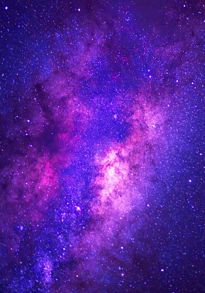 detail from the milky way, long speed exposture